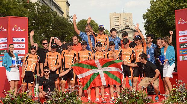 Euskaltel Euskadi, Sieger des Teamwettbewerbs in der ...