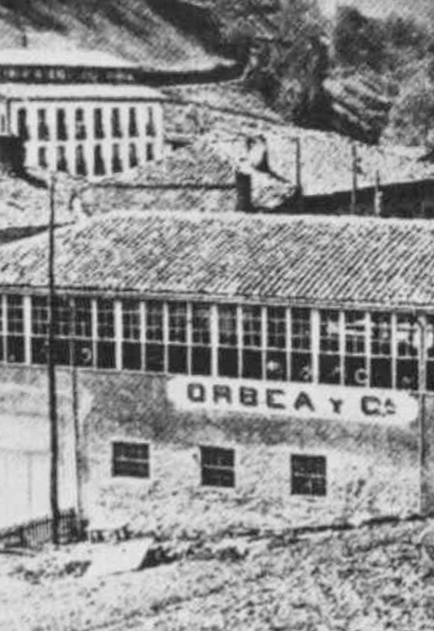 The Orbea factory in the Eibar neighborhood of Urkizu, the first industrial building in the city