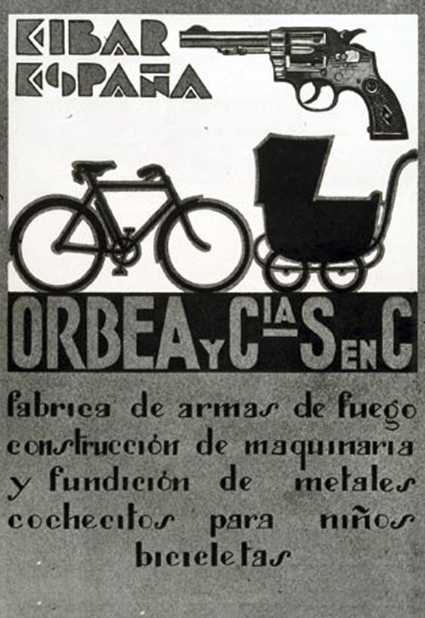 New products like bicycles, and strollers, gradually fill the Orbea catalog as firearm production gradually winds down