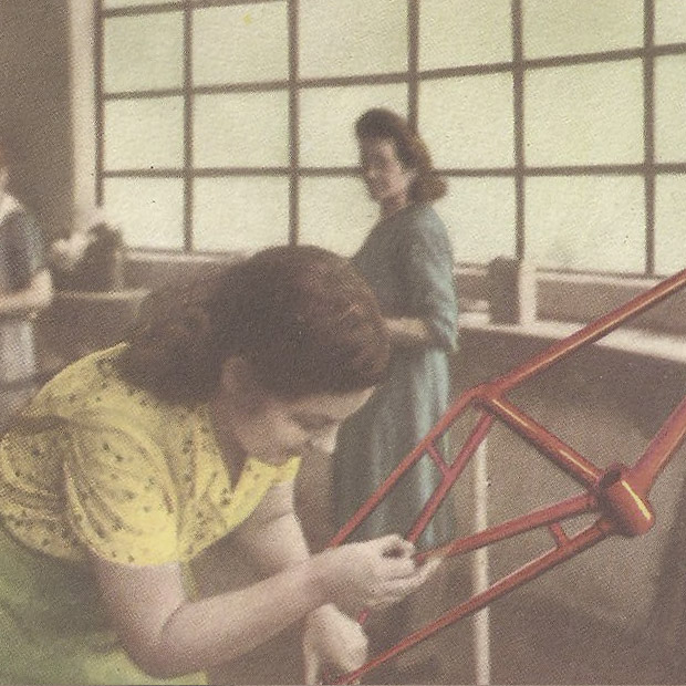 Custom work was always a mark of Orbea's production, and women were a critical part of the business from an early time