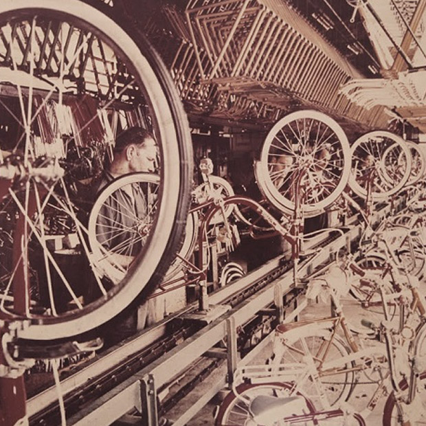Attention to detail was always a theme in the factory, with complete bikes shipping directly to dealers