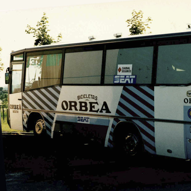 The Orbea team bus was a key component to the renewed venture into competitive cycling. In a phrase? So pro.