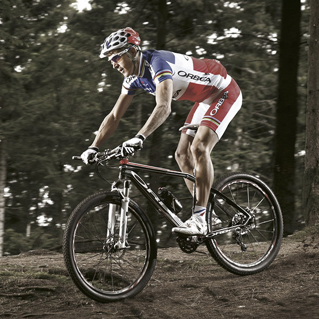 One of the finest mountain bike racers in history, Julien Absalon, aboard the new Alma