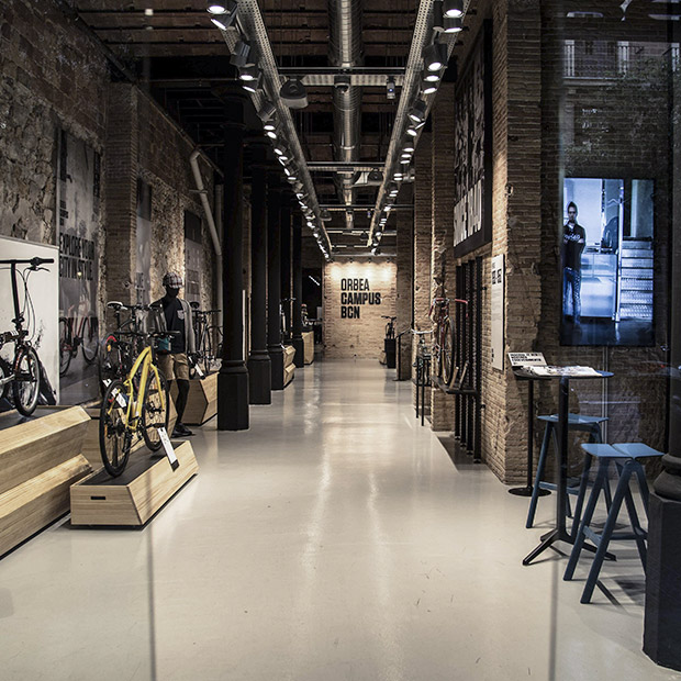 Physical spaces where we can share our passion face to face with fans and riders of the brand are crucial. The Orbea Campus Barcelona is a prime example of this