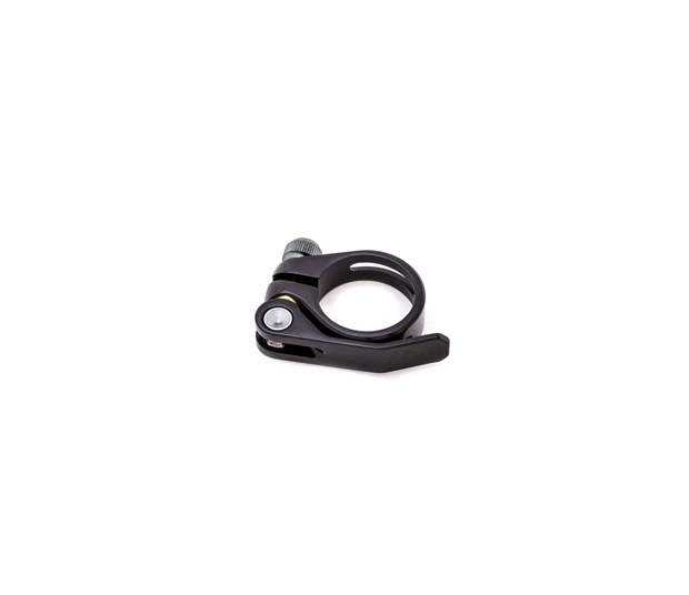 349 BLACK SILVER ALUMINUM SEAT POST CLAMP