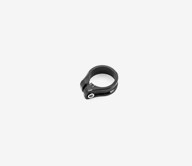 Black seat post clamp QR 31.8 Alma H