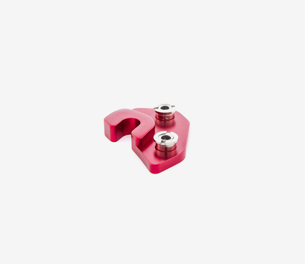 RED LEFT DERAILLEUR HANGER FOR RALLON MODELS